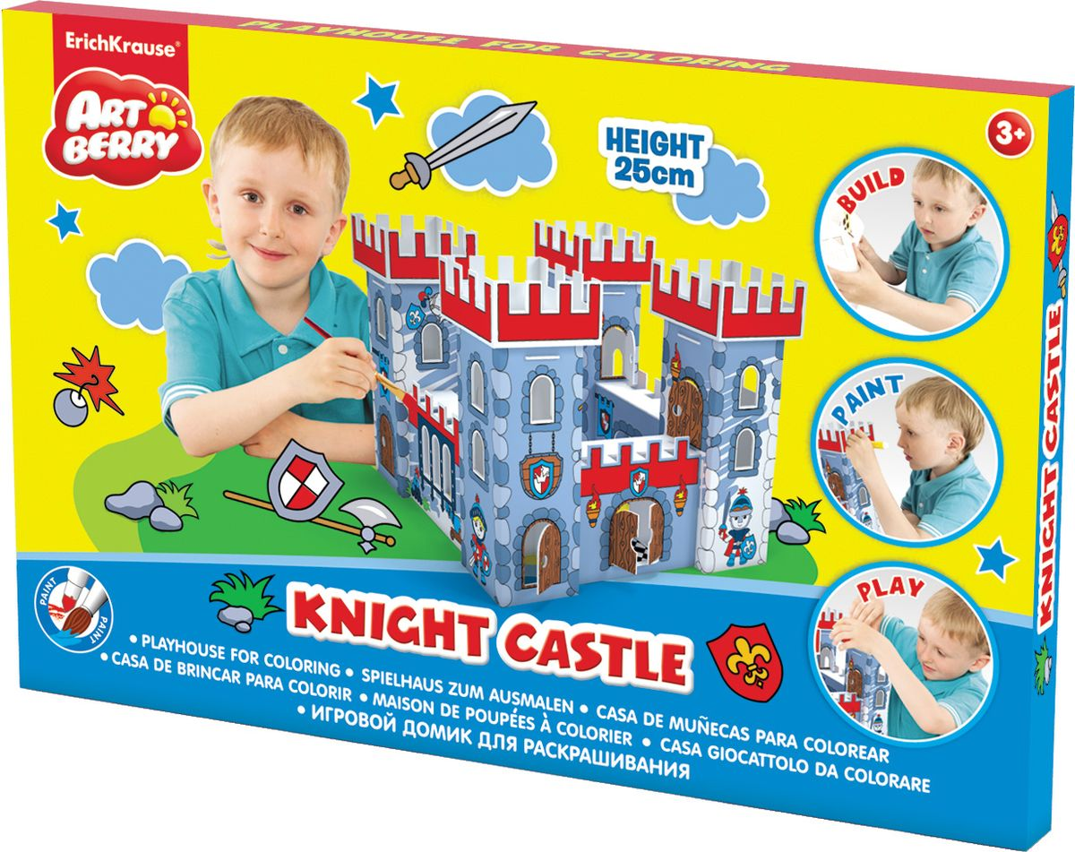 Фото - Игровой конструктор для раскрашивания Artberry Knight Castle Крепость кукольные домики и мебель cartonhouse игровой домик из картона замок русалки