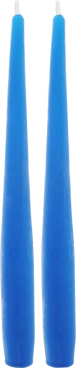 Набор декоративных свечей Омский cвечной завод, цвет: синий, высота 25 см, 2 шт набор декоративных свечей омский свечной завод цвет синий высота 24 см 2 шт
