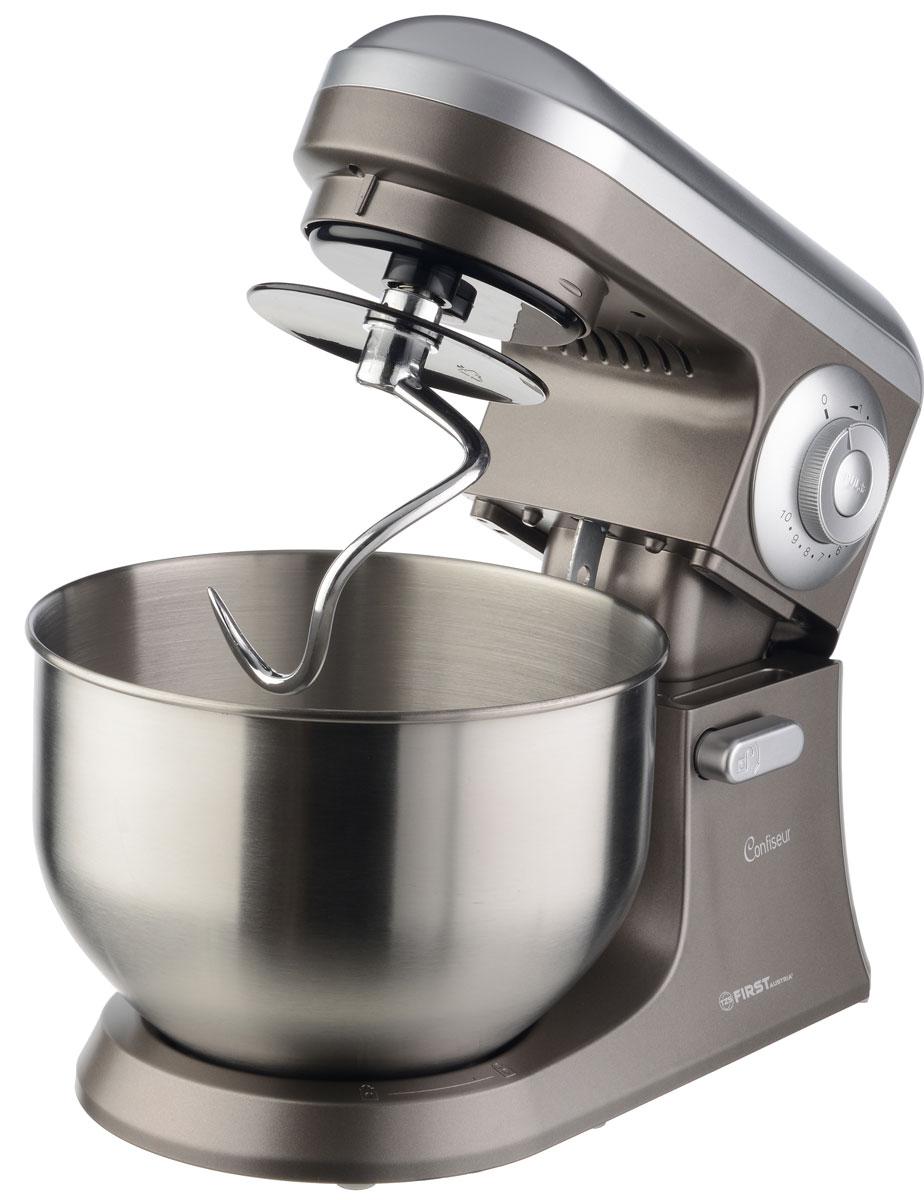 Миксер First FA-5259-3 GreyFA-5259-3 GreyМиксер-тестомес First FA-5259-3 станет прекрасным помощником для любой хозяйки. С ним вы сможете готовить невероятно вкусные и аппетитные блюда, при этом сократив время их приготовления. Основным назначением прибора является изготовление различных видов теста и кремов. Тестомес качественно и быстро перемешивает различные ингредиенты, что дает возможность избежать комочков. FA-5259-3 снабжен 5 л чашей из нержавеющей стали с возможностью замешивания до 1,5 кг теста. 10 скоростей замешивания обеспечат наилучший результат. Как выбрать планетарный миксер. Статья OZON Гид