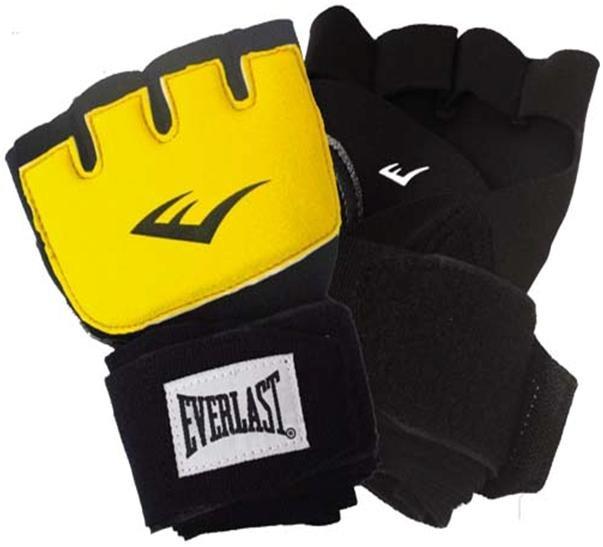 Фото - Перчатки гелевые с бинтом Everlast Duster Evergel, цвет: черный, желтый, длина бинта 150 см. Размер L/XL пакет перевязочный индивидуальный стерильный с 1 подушечкой и эластичным бинтом
