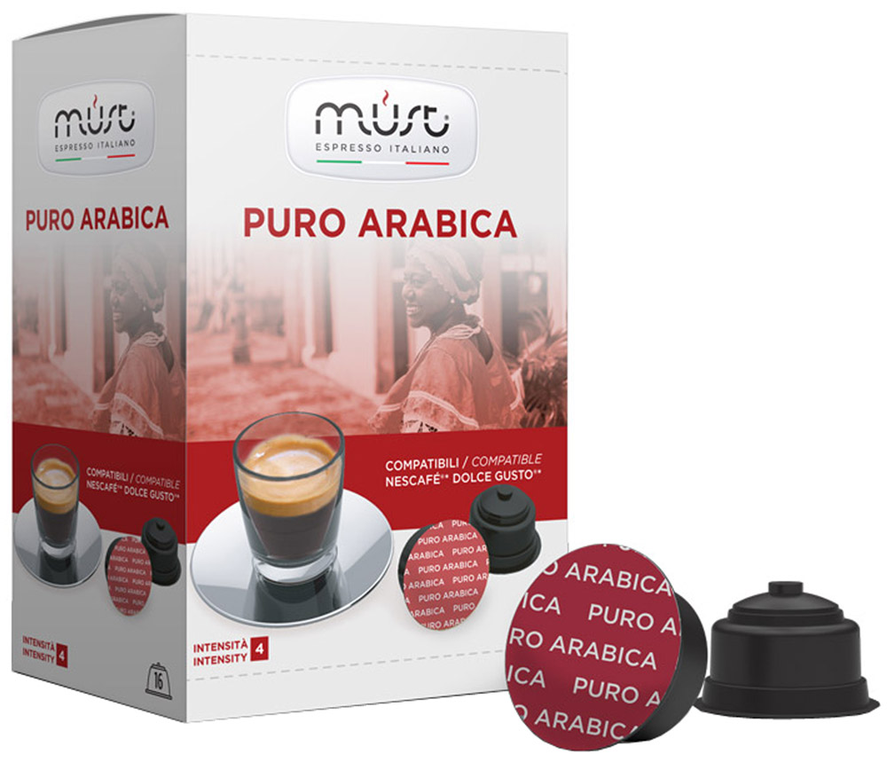 MUST DG Puro Arabica кофе капсульный, 16 шт must n puro arabica 10шт