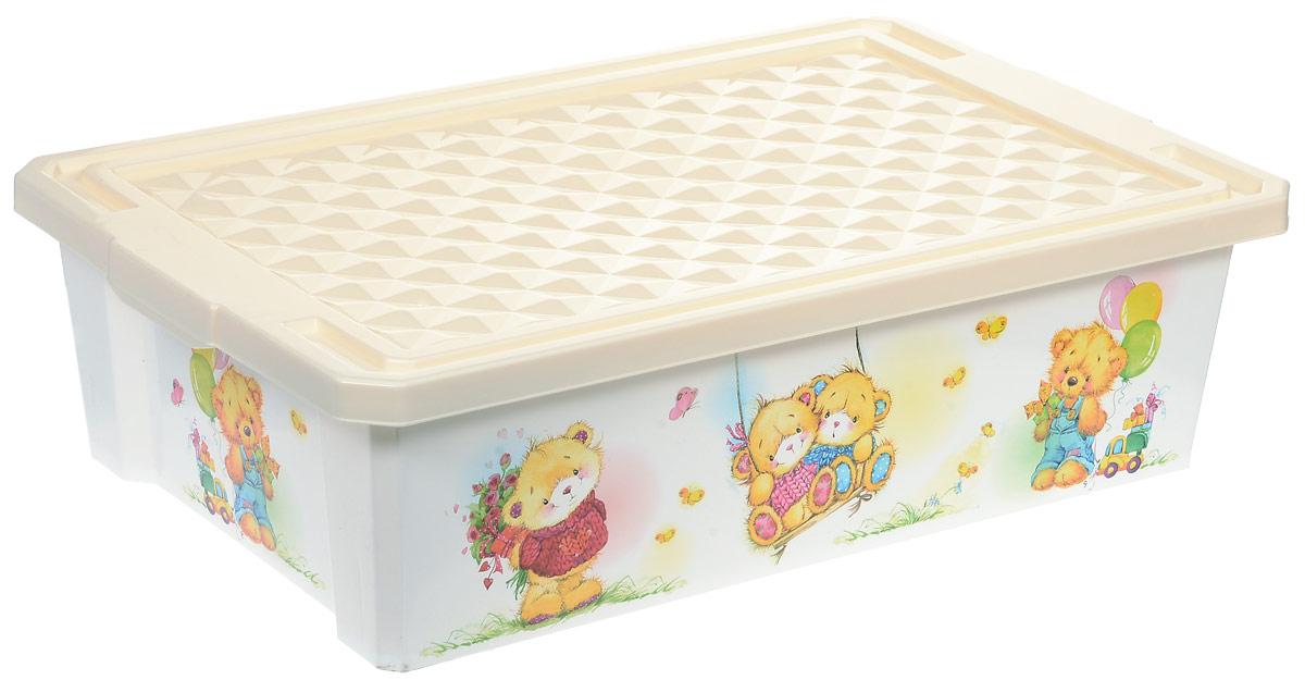 Little Angel Ящик для игрушек X-Box Bears на колесах 30 л цвет слоновая кость № 2 little angel ящик для игрушек x box сказочная принцесса 17 л