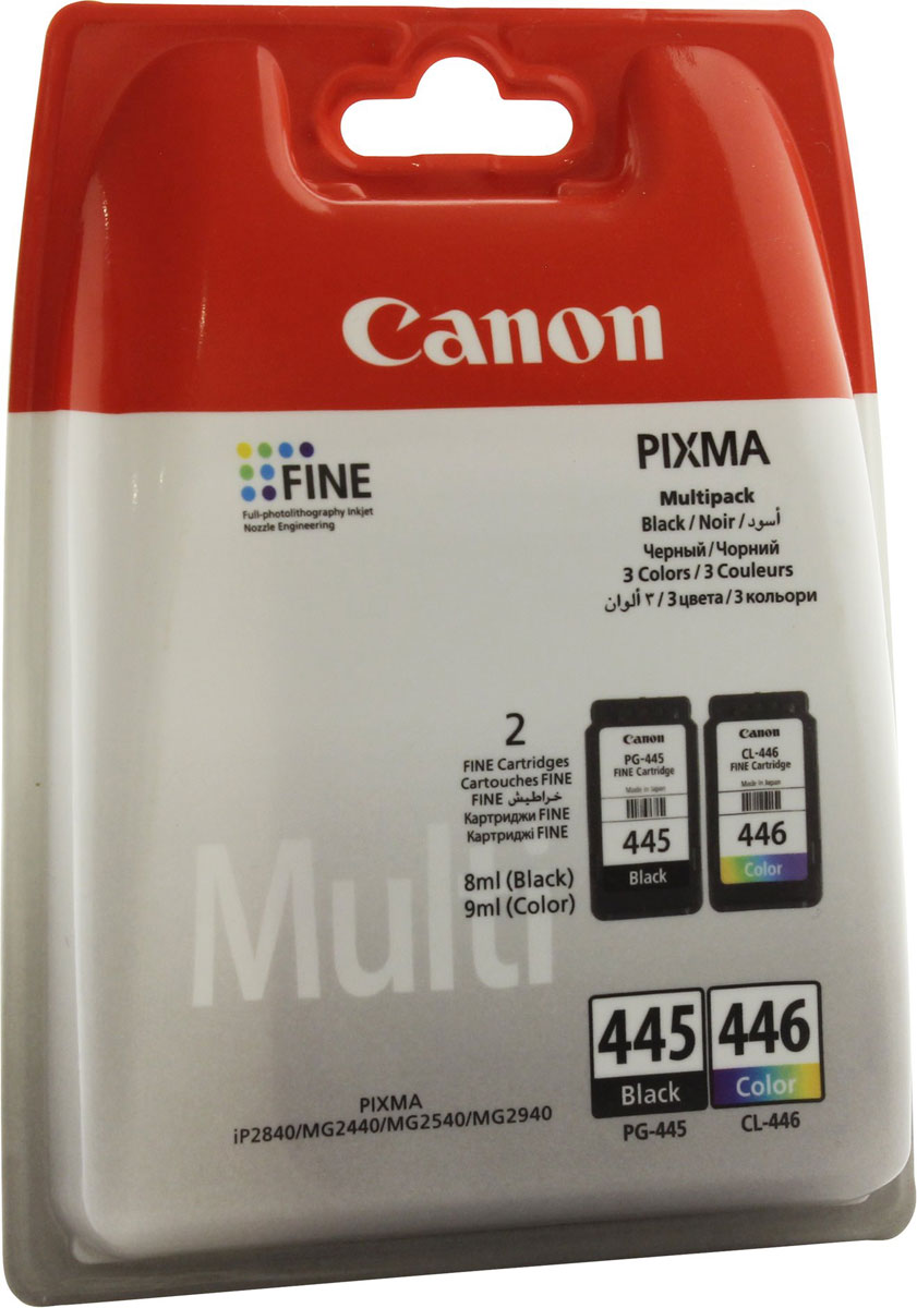 Картридж Canon PG-445/CL-446, черный, для струйного принтера, оригинал