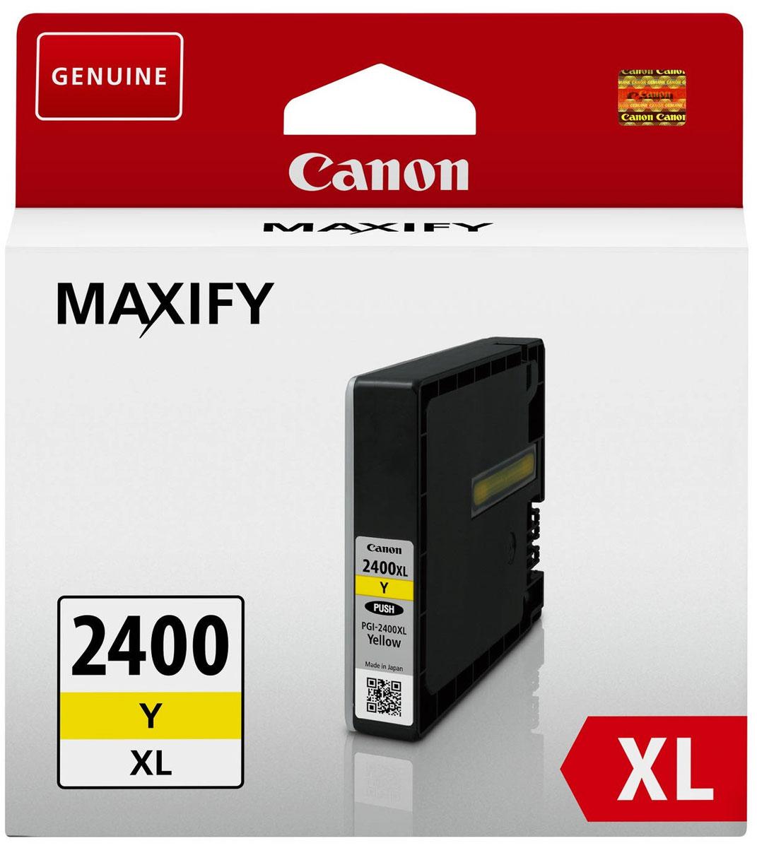Фото - Canon PGI-2400XL, Yellow картридж для Maxify iB4040/МВ5040/МВ5340 meike fc 100 for nikon canon fc 100 macro ring flash light nikon d7100 d7000 d5200 d5100 d5000 d3200 d310