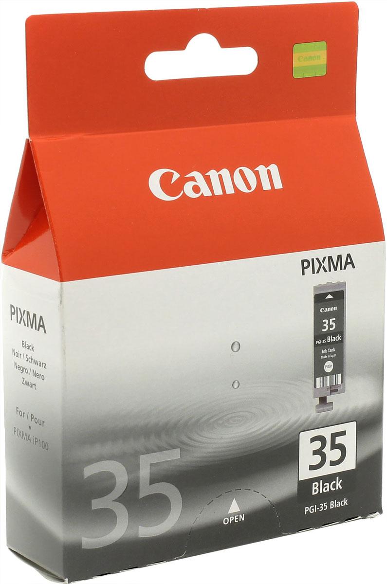 Canon PGI-35, Black картридж для PIXMA iP100 картридж canon pgi 35 black для pixma ip100 1509b001