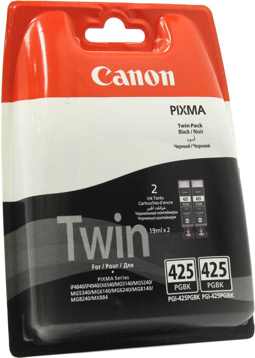 Canon PGI-425 Twin, Black картридж для PIXMA iP4840/MG5140/MG5240/MG6140/MG8140, 2 шт картридж canon pgi 5bk twin pack black 0628b030