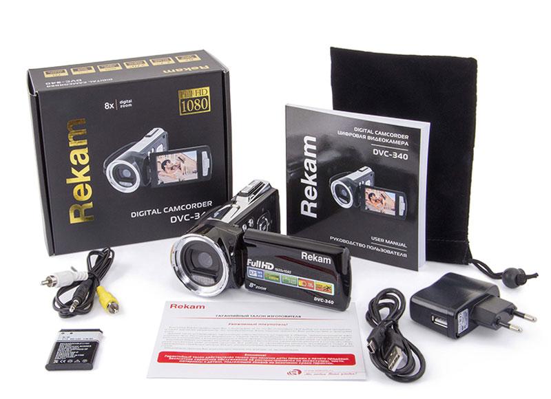 Видеокамера Rekam DVC-340, Black Rekam