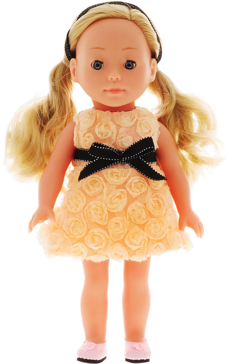 Bambolina Кукла Boutique цвет одежды персиковый 30 см цены