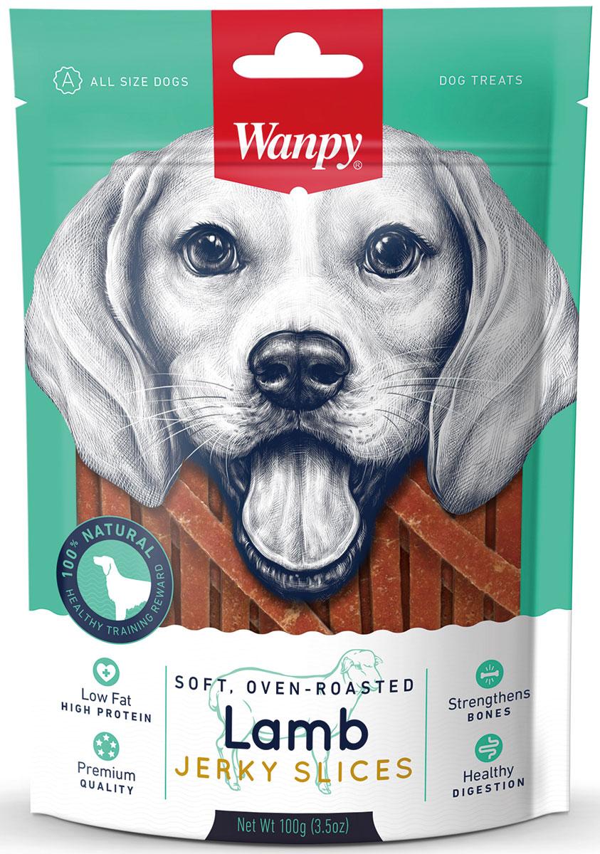 Лакомство для собак Wanpy Dog, соломка из мяса ягненка, 100 г