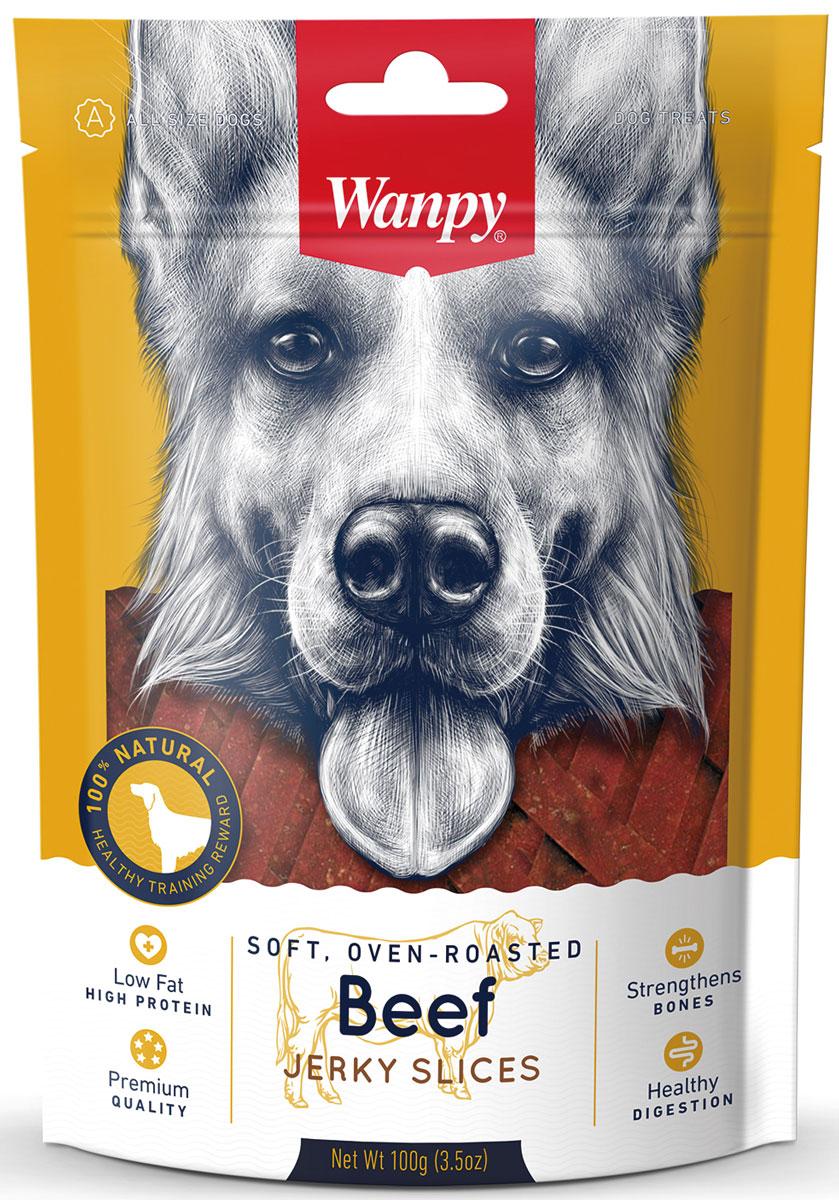Лакомство для собак Wanpy Dog, соломка из вяленой говядины, 100 г