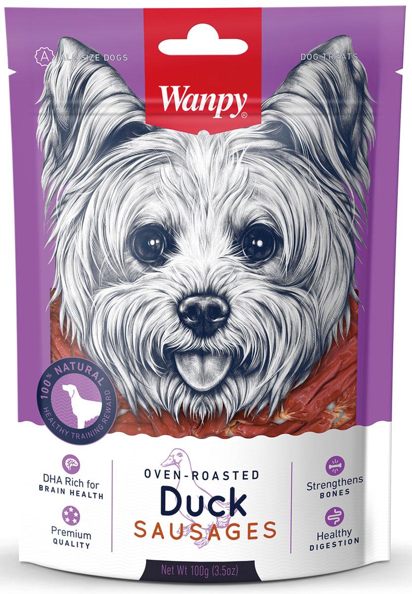 Лакомство для собак Wanpy Dog, утиные сосиски, 100 г