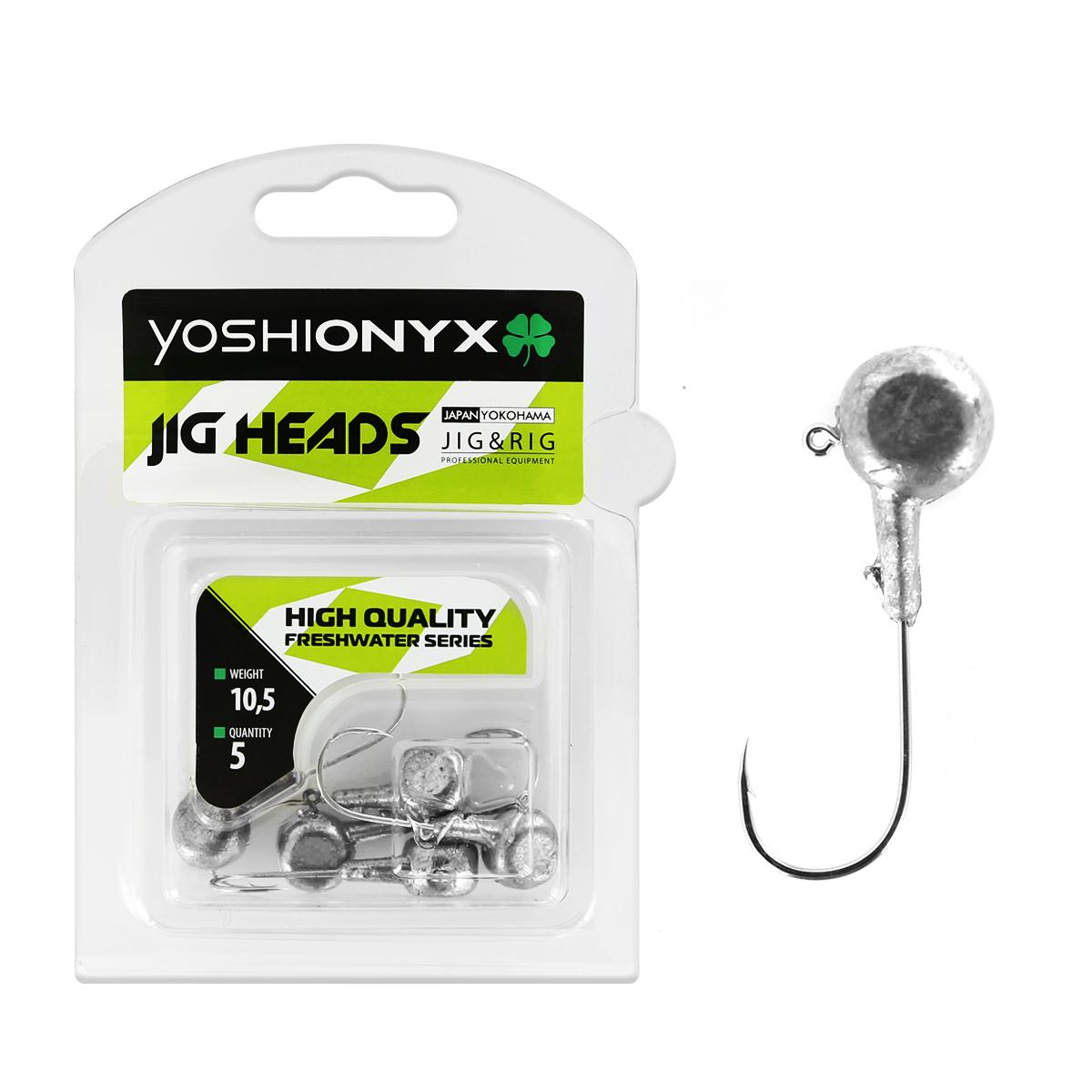 Джиг-головка Yoshi Onyx JIG Bros. Аспирин, крючок Gamakatsu, 10,5 г, 5 шт