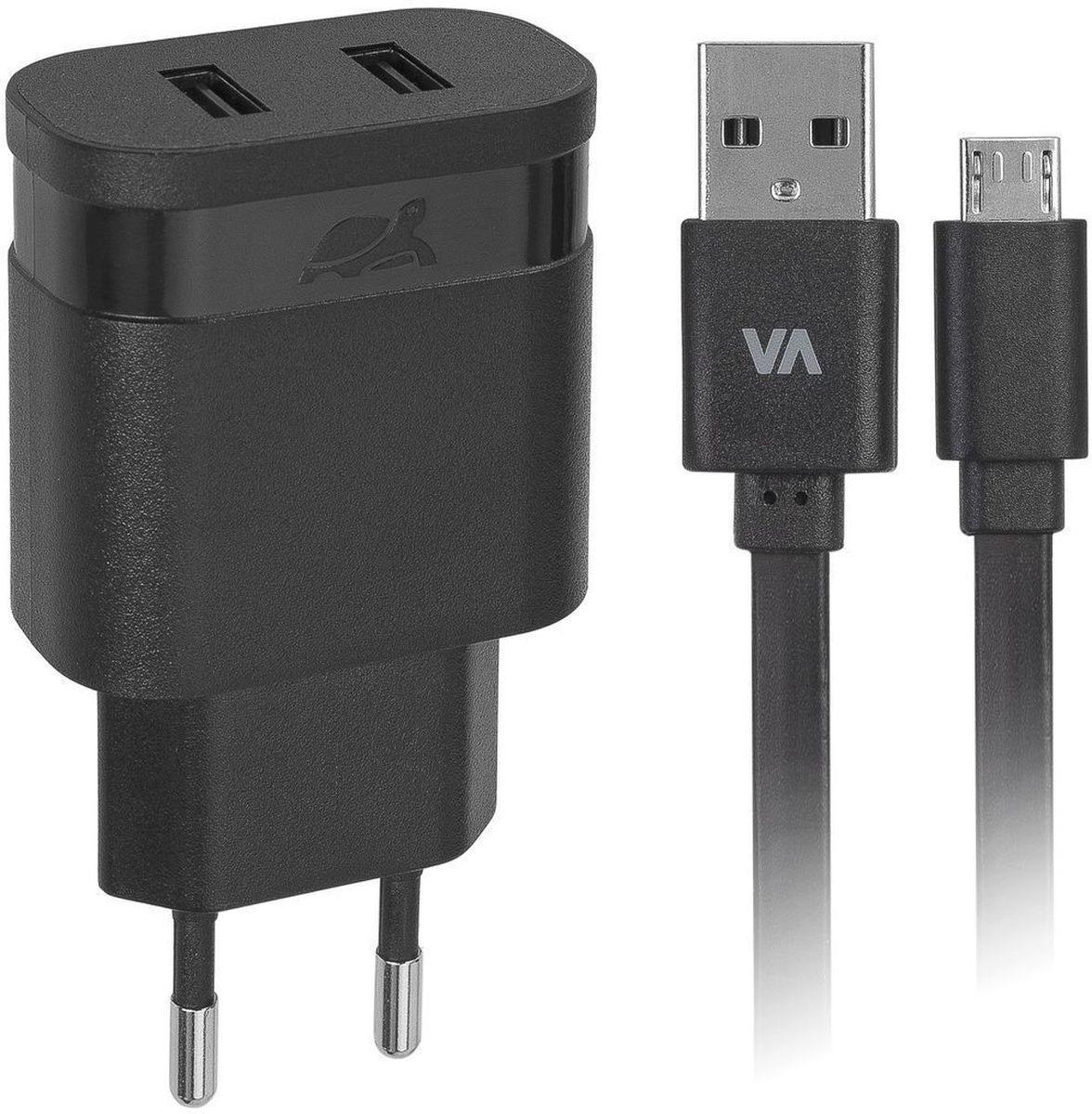 Rivapower VA4122 BD1, Black сетевое зарядное устройство rivapower va4122 w00 white сетевое зарядное устройство