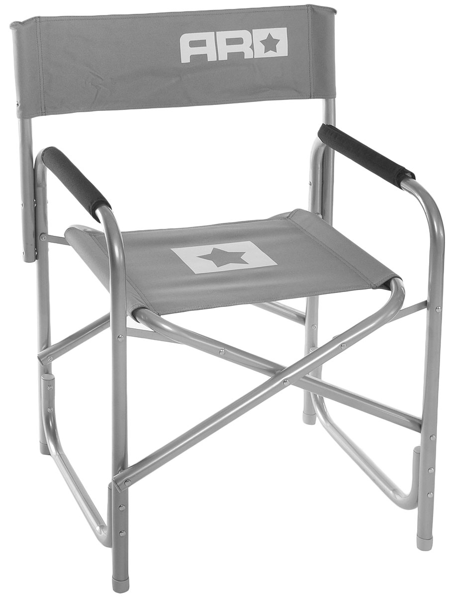 Стул складной Adrenalin Republic Captain Jack, цвет: серый, белый, 48 х 48 х 64 см