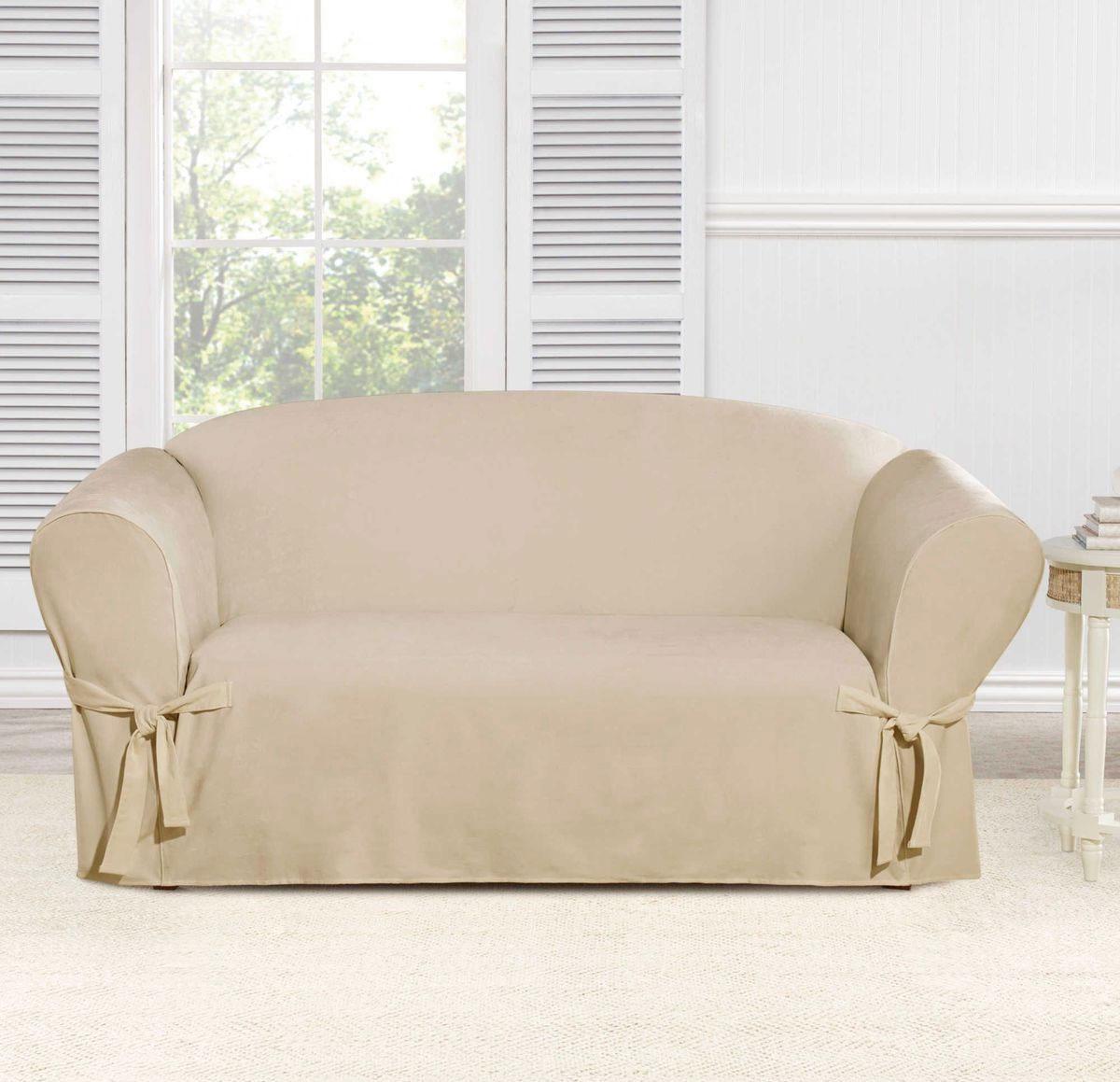 Чехол на двухместный диван Медежда Брайтон, цвет: бежевый чехол на двухместный диван медежда лидс цвет бежевый