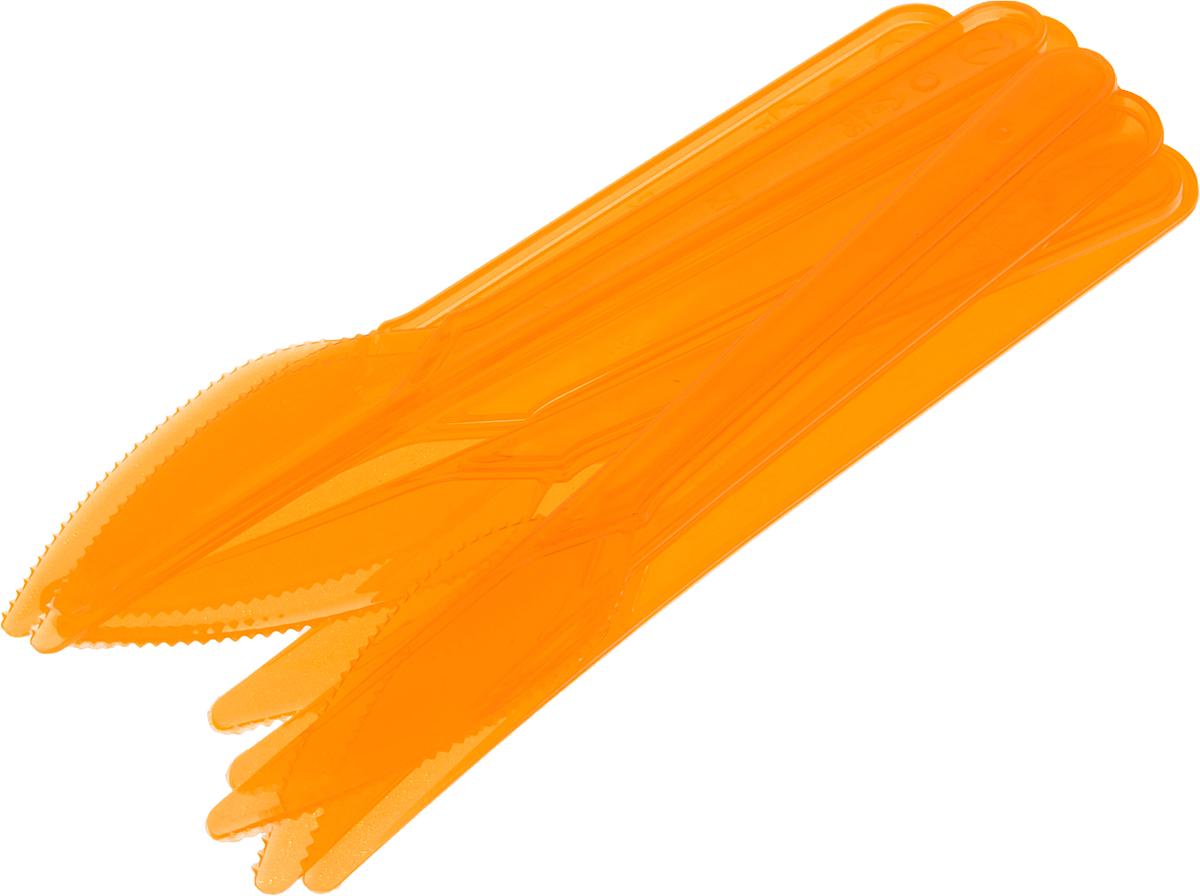 """Набор пластиковых ножей """"Buffet"""", цвет: оранжевый, 10 шт"""