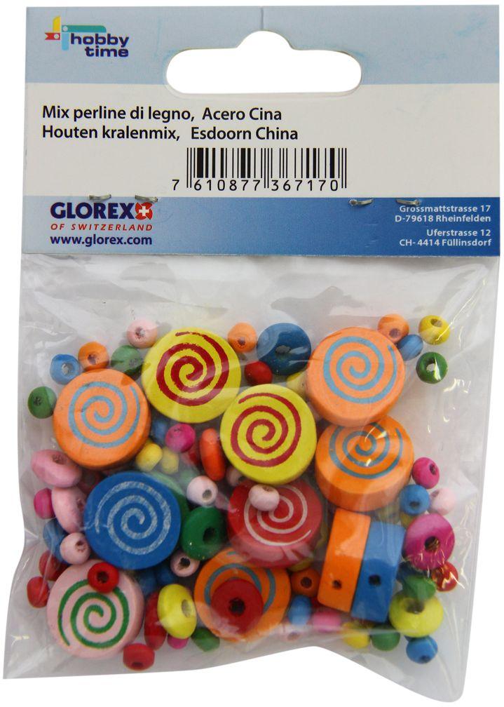 Бусины Glorex, 15 мм. 61618005 бусины зажимные glorex цвет серебряный 1 8 мм 100 шт 685320