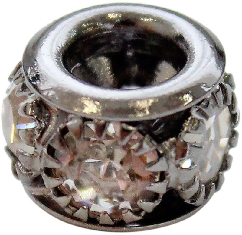 Бусины со стразами, 5 страз, цвет: черный никель, 5 шт цена и фото