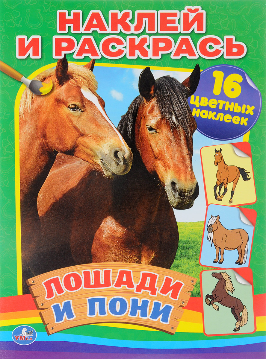Лошади и пони. Раскраска (+ 16 наклеек) бологова в ред лошади и пони забавные наклейки более 60 наклеек