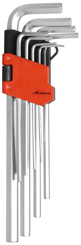 Набор ключей шестигранных Airline, удлиненных, 1,5 мм - 10 мм, 9 шт набор шестигранников matrix удлиненных 9 шт