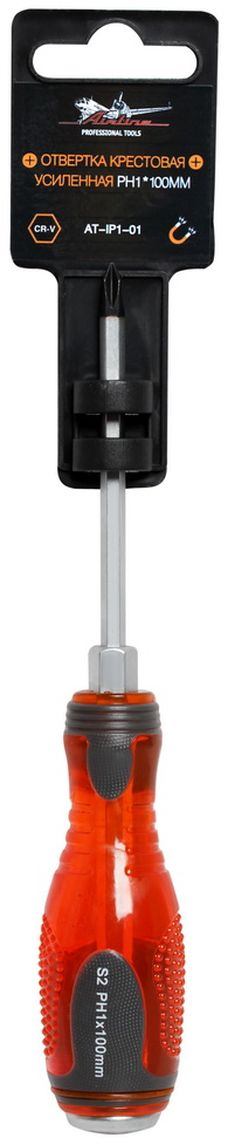 Отвертка крестовая Airline, усиленная под ключ, PH1 х 100 мм отвертки ермак отвертка под ключ