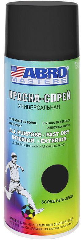 Краска-спрей Abro Masters, цвет: черный матовый. SP-012-AM краска спрей abro masters цвет серый грунт sp 008 am