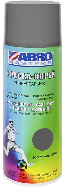 Краска-спрей Abro Masters, цвет: серый. SP-084-AM краска спрей abro masters цвет серый грунт sp 008 am