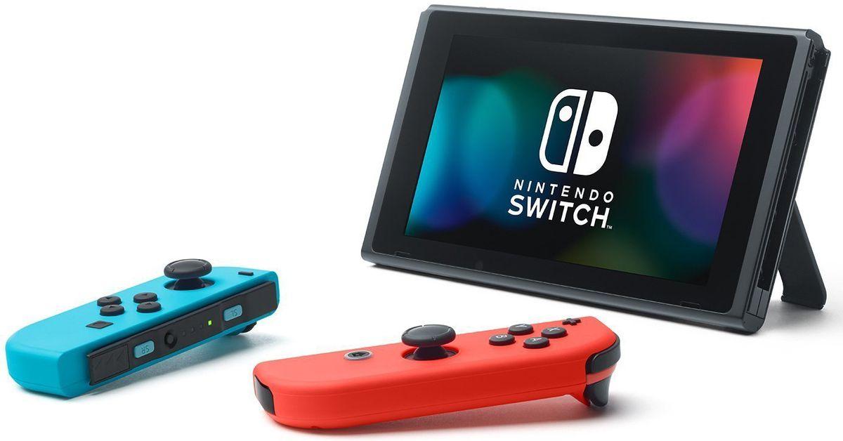 лучшая цена Игровая консоль Nintendo Switch ConSWT2, Red Blue Neon