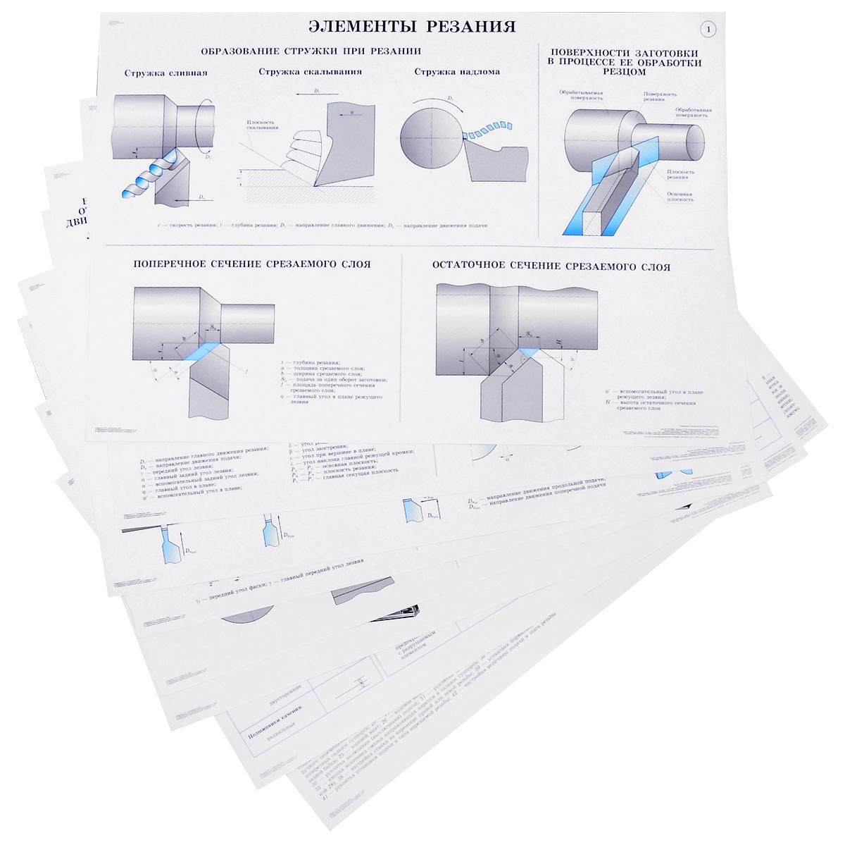 Л. И. Вереина Токарное дело (набор из 36 плакатов) л и вереина технология шлифовальной обработки