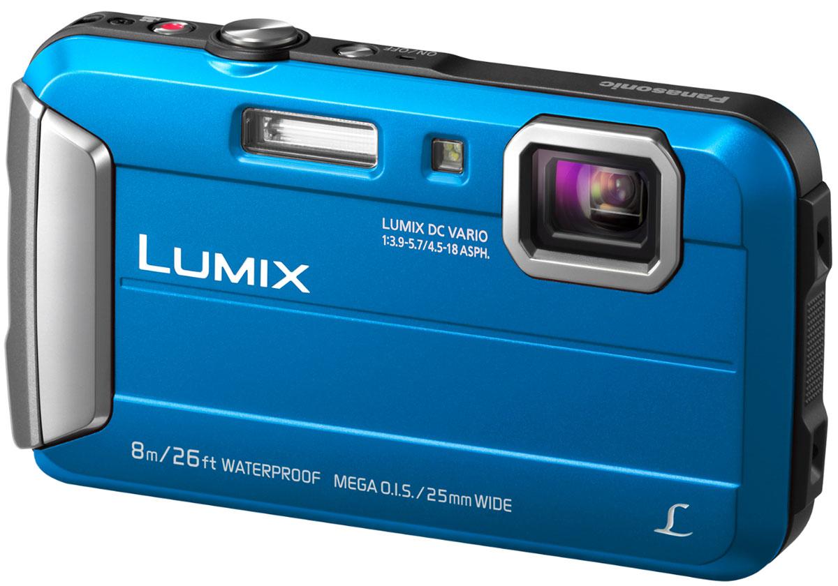 Компактный фотоаппарат Panasonic Lumix DMC-FT30, Blue