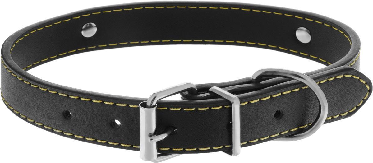 Ошейник для собак Каскад Колибри. Love, цвет: черный, ширина 20 мм, длина 45 см ошейник для собак каскад строгий быстросъемный диаметр 3 мм длина 55 см