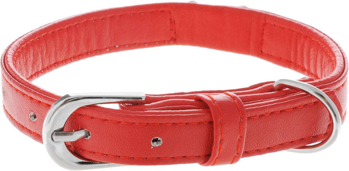 Ошейник для собак Каскад Колибри. Сердце, цвет: красный, ширина 15 мм, длина 35 см. 7052 ошейник для собак каскад строгий быстросъемный диаметр 3 мм длина 55 см