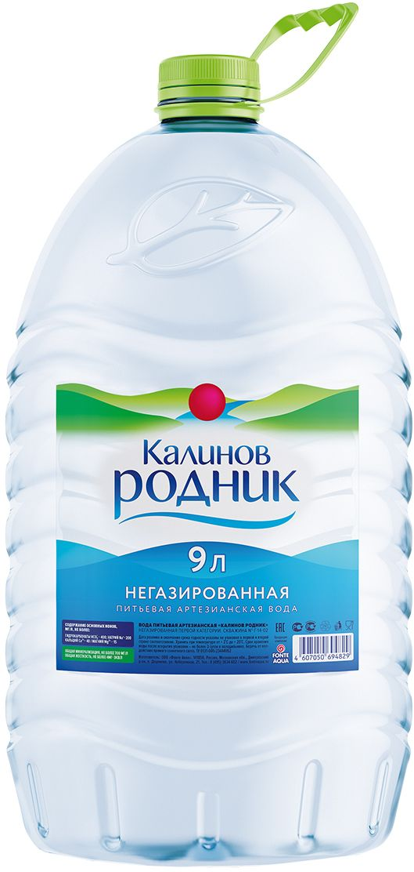 Калинов Родник питьевая артезианская негазированная вода, 9 л