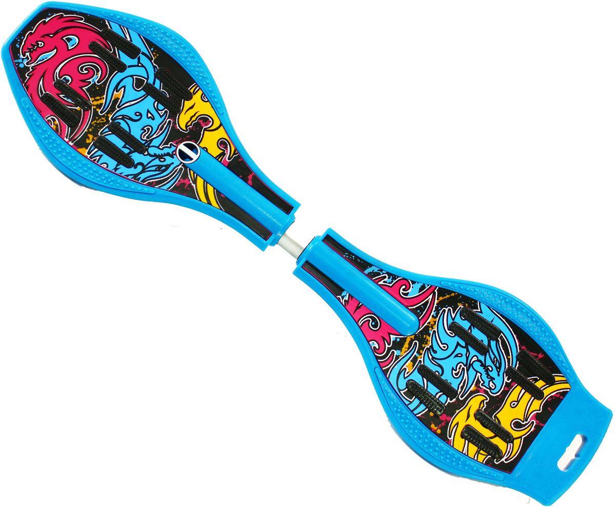 """Роллерсерф Dragon Board """"Totem"""", цвет: голубой, желтый, черный"""