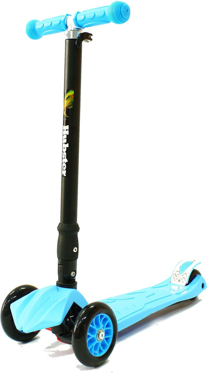 Самокат трехколесный Hubster Maxi Plus, цвет: синий самокат hubster mini flash