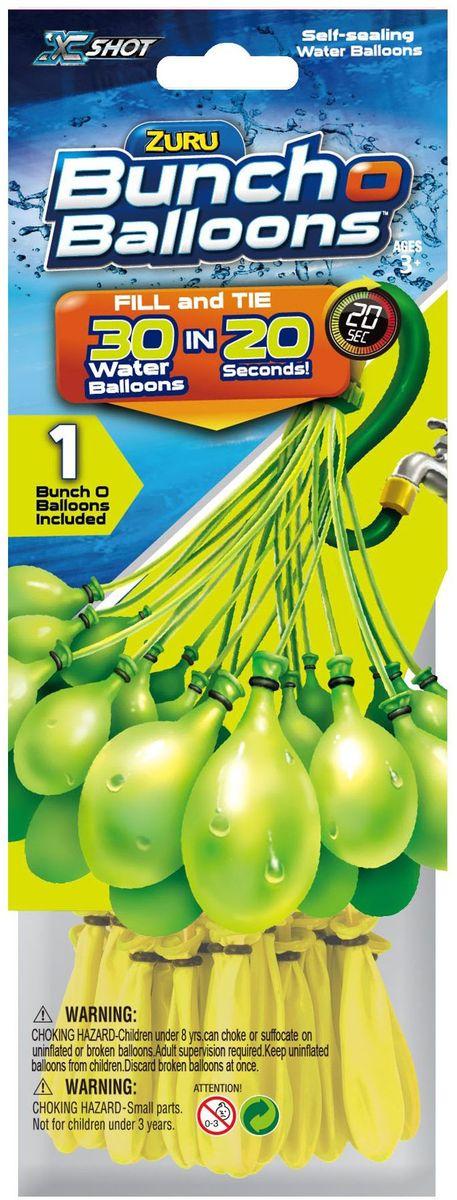 Zuru Водяное оружие Bunch O Balloons цвет желтыйZ1217_желтыйВодяное оружие Zuru Bunch O Balloons - это инновационные водные баллоны для метания.Набор создан для веселой игры на природе. Он представляет собой связку баллонов: каждый прикреплен к специальной трубочке. Для заполнения достаточно подвести связку баллонов на трубочках к шлангу или крану. Они заполняются моментально: менее чем за 20 секунд! Забудьте о нудном заполнении отдельных шаров, которое, кажется, длится бесконечно и утомит вас еще до начала игры. После достаточно встряхнуть связку. Благодаря специальному стягивающему колечку баллоны отделятся от трубочек без завязывания и сразу будут готовы к метанию.Баллоны выполнены из натурального материала и не вредят экологии.