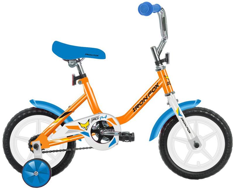 Велосипед детский Iron Fox Fly 14, цвет: оранжевый