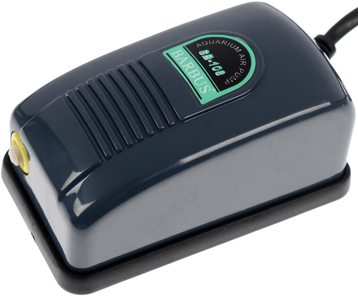 Компрессор воздушный Barbus, 3 л/мин компрессор воздушный barbus sb 248a с регулятором 1 канал 3 5 л мин
