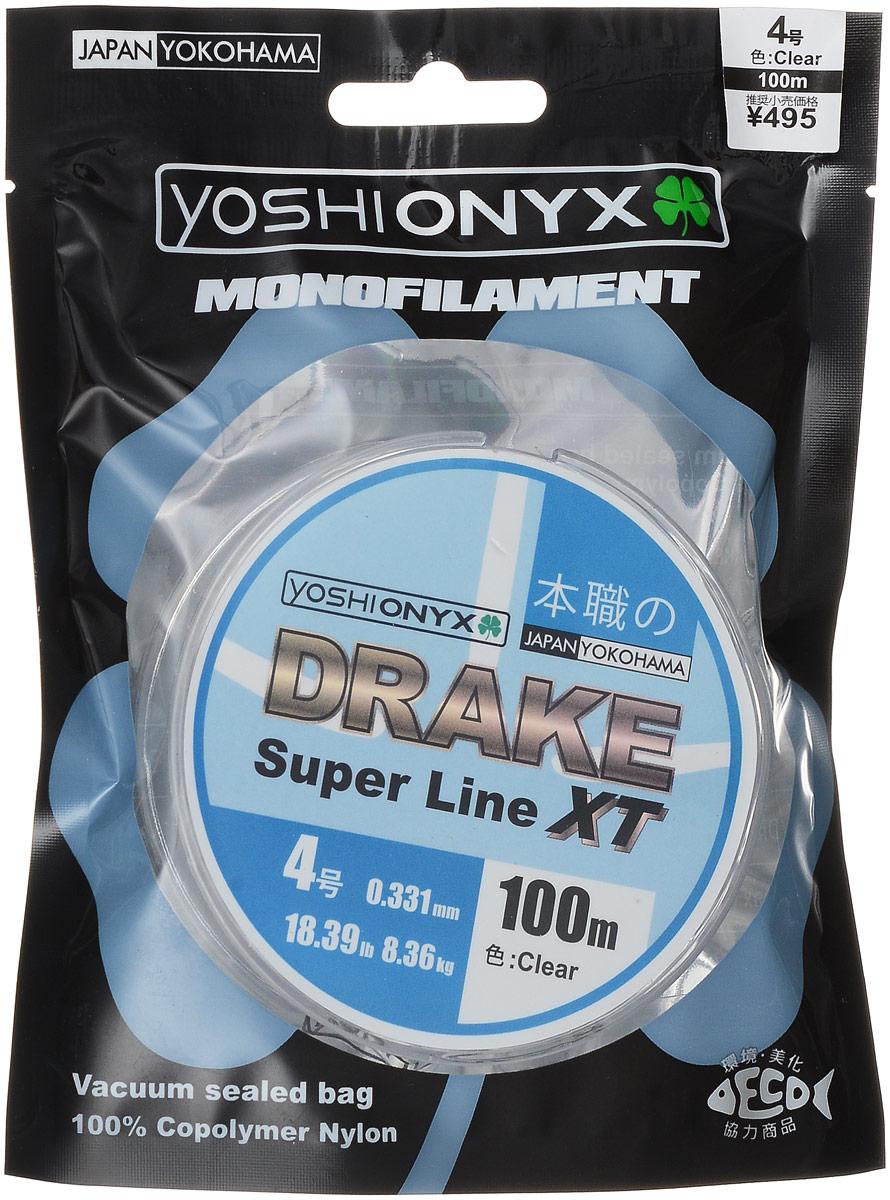 Леска Yoshi Onyx Drake Super Line XT, цвет: прозрачный, 100 м, 0,331 мм, 8,36 кг леска yoshi onyx drake fluoro цвет прозрачный 100 м 0 21 мм 3 08 кг