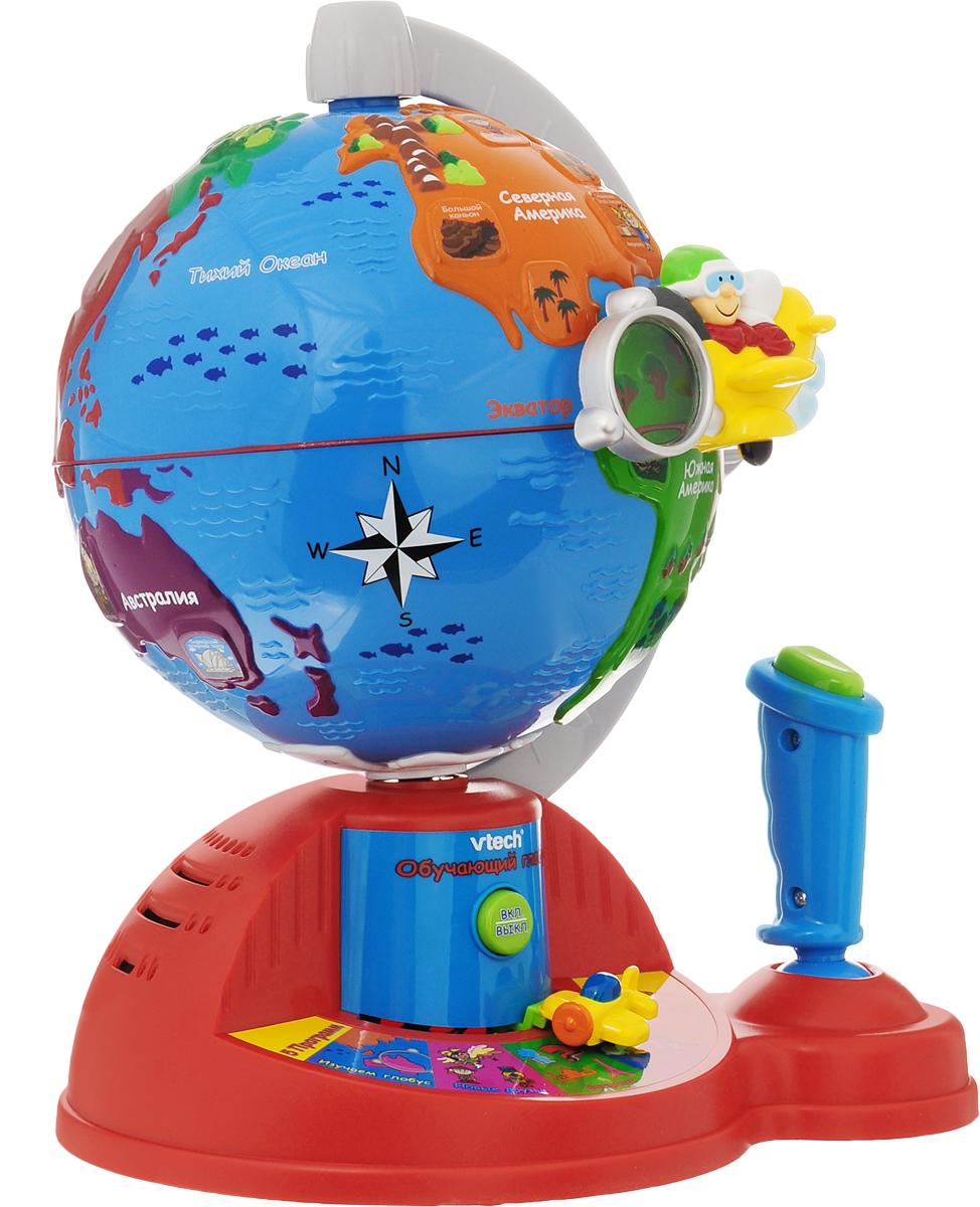 Vtech Развивающая игрушка Обучающий глобус обучающий компьютер vtech винни на бат 11 обучающих программ 80 069126