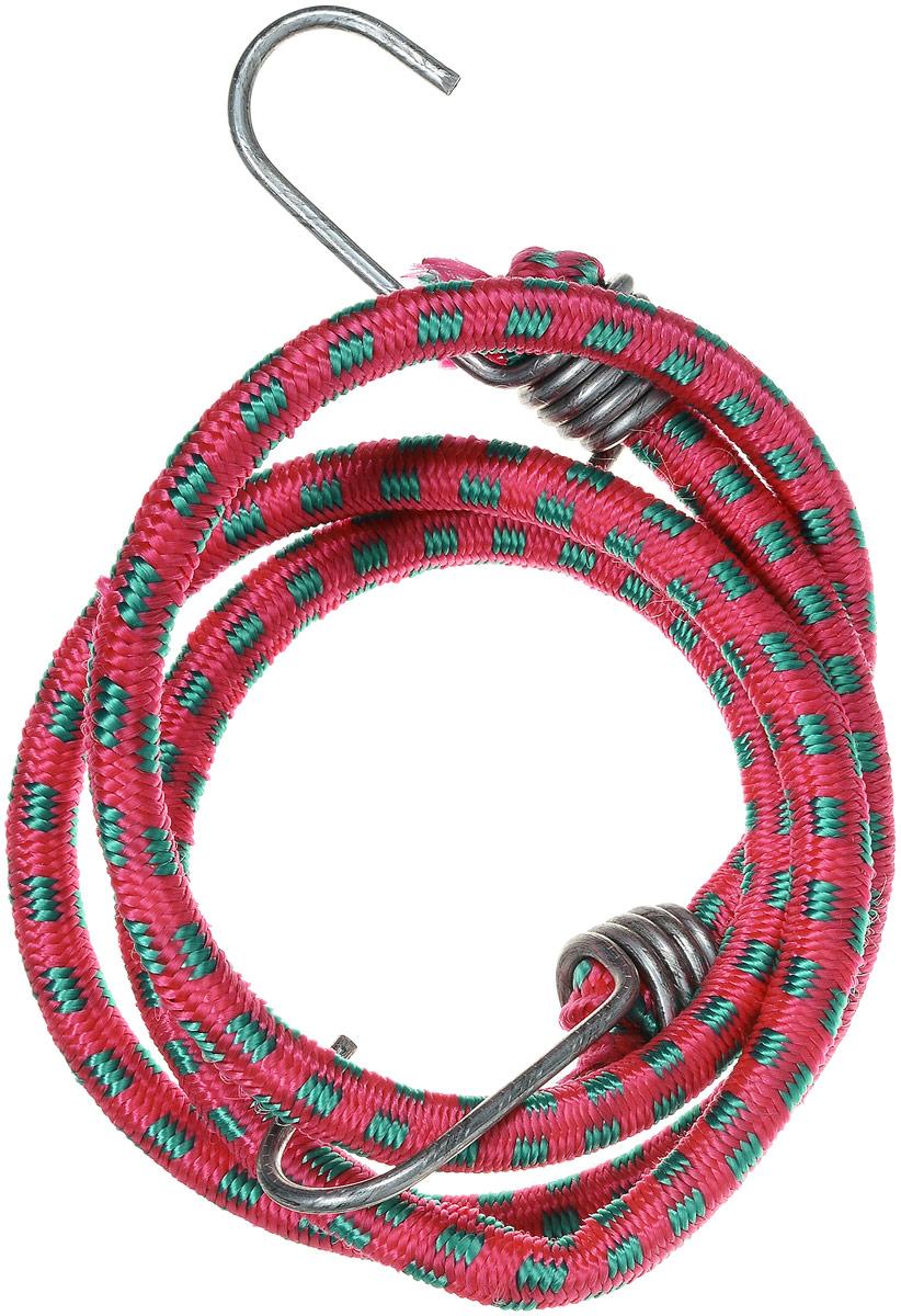 Резинка багажная МастерПроф, с крючками, цвет: красный, зеленый, 1 х 110 см. АС.020023 резинка багажная мастерпроф с крючками цвет в ассортименте 0 6 х 80 см ас 020051