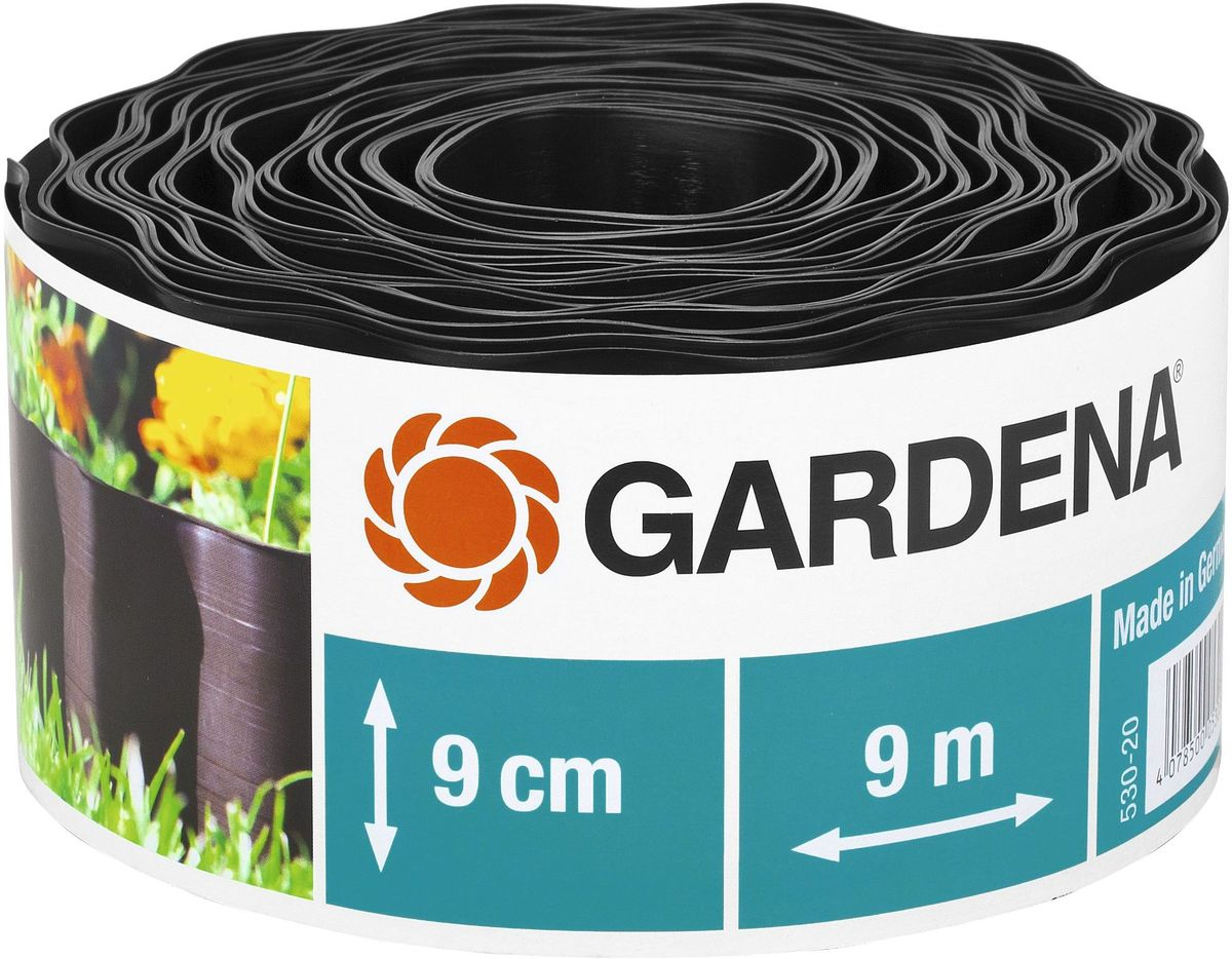 """Бордюр декоративный """"Gardena"""", цвет: черный, ширина 9 см, длина 9 м"""