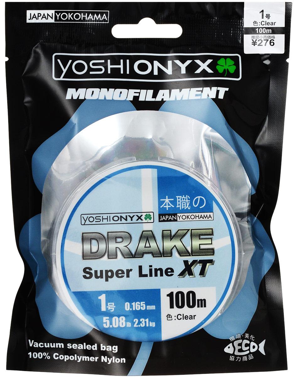 Леска Yoshi Onyx Drake Super Line XT, цвет: прозрачный, 100 м, 0,165 мм, 2,31 кг леска yoshi onyx drake fluoro цвет прозрачный 100 м 0 21 мм 3 08 кг