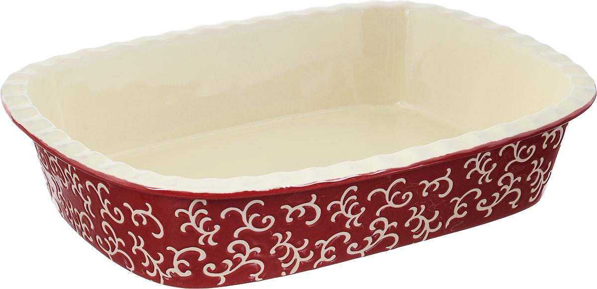Форма для запекания Appetite, прямоугольная, цвет: красный, 35 х 25 7 см
