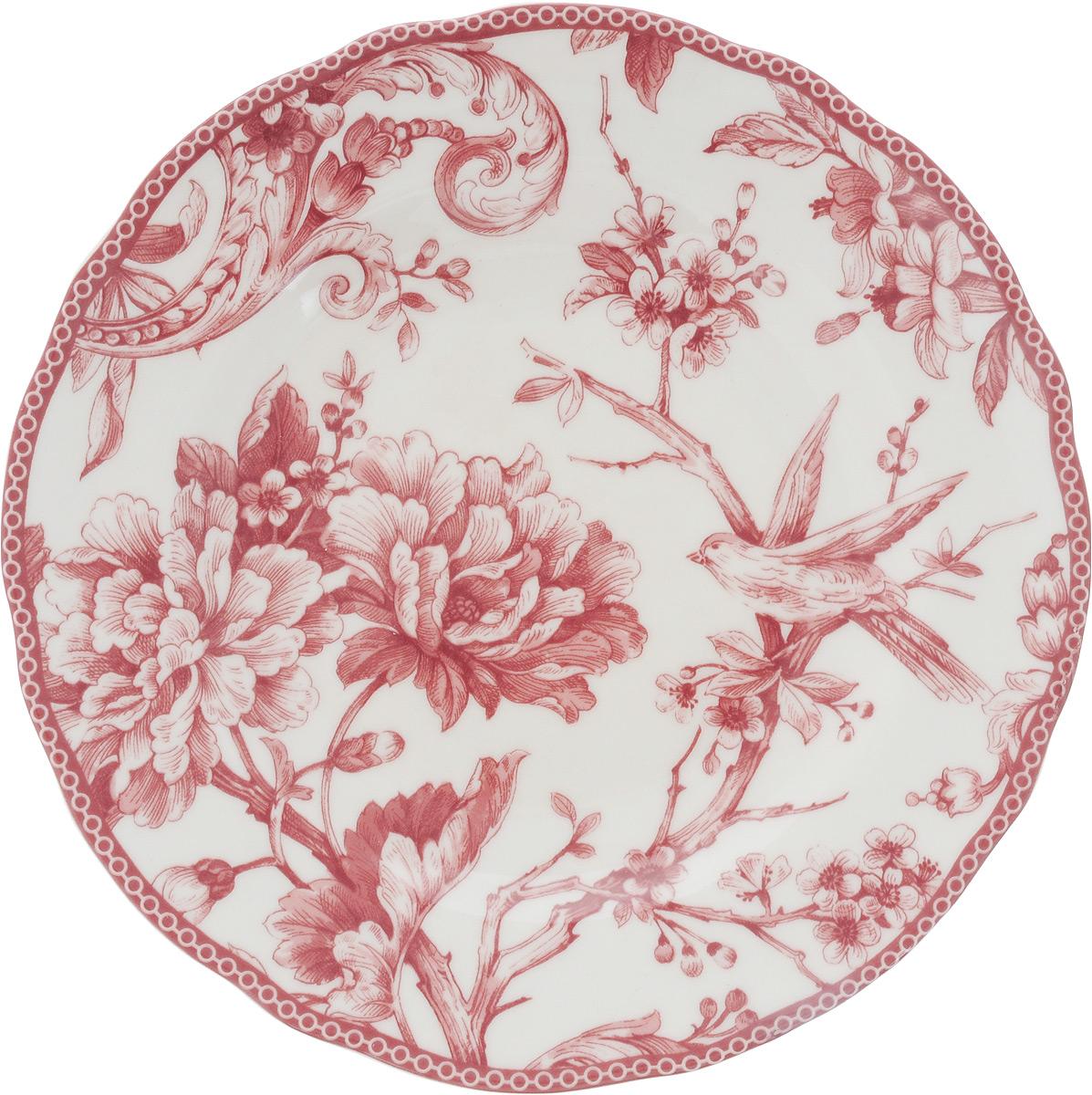 "Тарелка десертная Sango Ceramics ""Аделаида Бордо"", диаметр 22 см"
