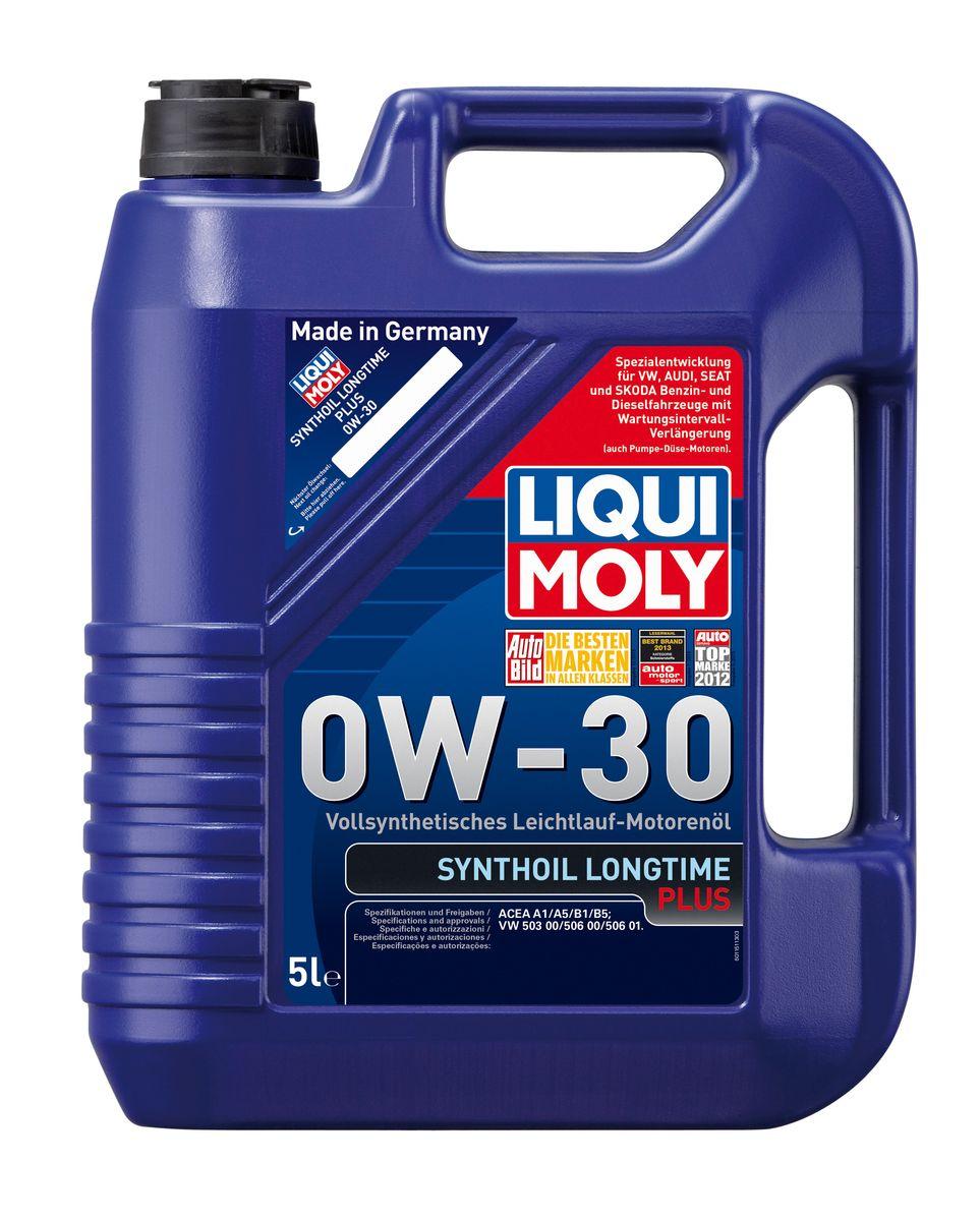 Масло моторное Liqui Moly Synthoil Longtime Plus, синтетическое, 0W-30, 5 л liqui moly synthoil longtime plus 0w 30 5л