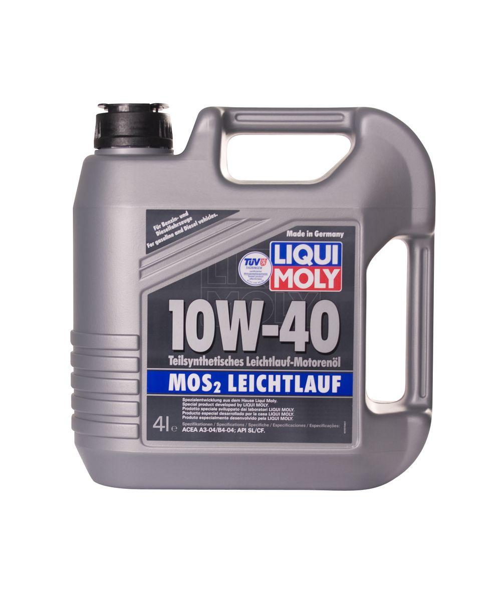 """Масло моторное Liqui Moly """"MoS2 Leichtlauf"""", полусинтетическое, 10W-40, 4 л"""