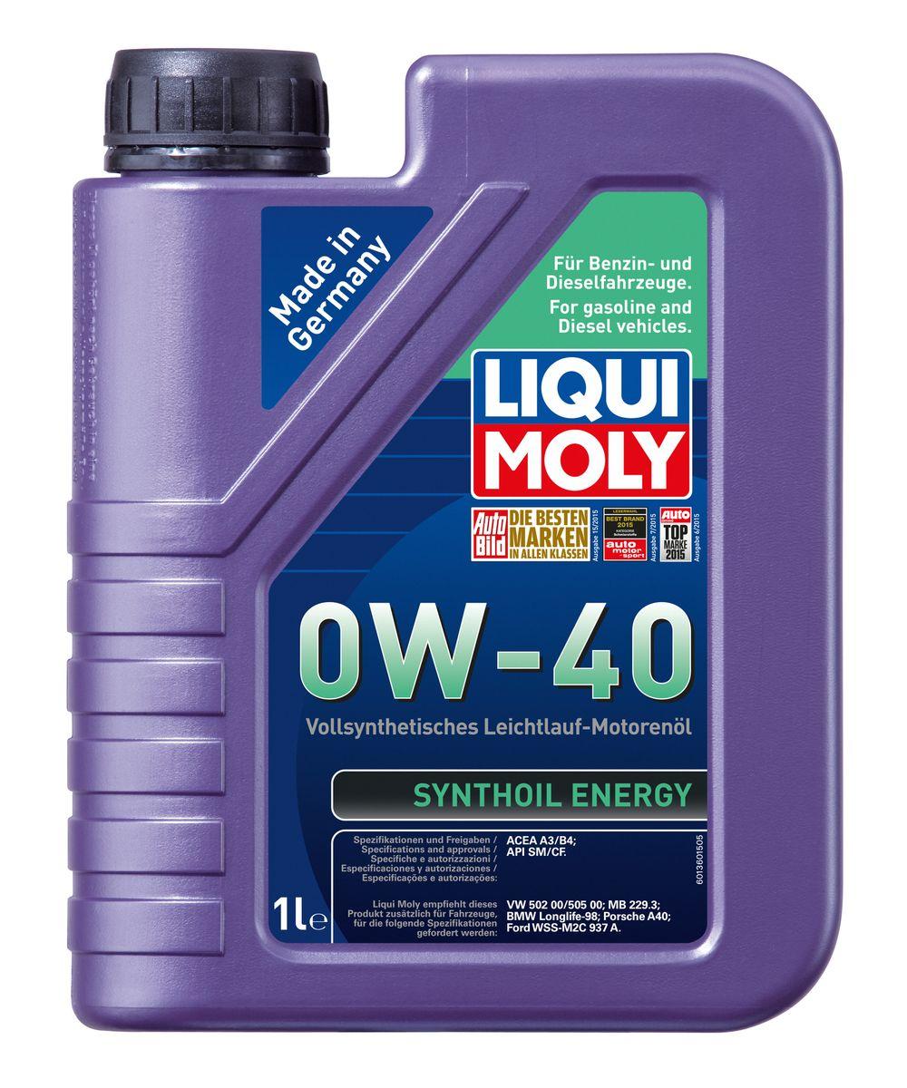 """Масло моторное Liqui Moly """"Synthoil Energy"""", синтетическое, 0W-40, 1 л"""