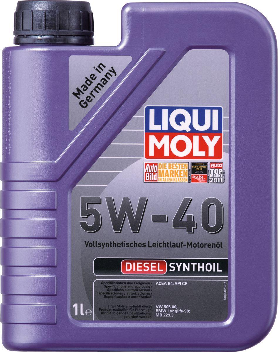 Масло моторное Liqui Moly Diesel Synthoil, синтетическое, 5W-40, 1 л моторное масло liqui moly diesel synthoil 5w 40 1 л 1926