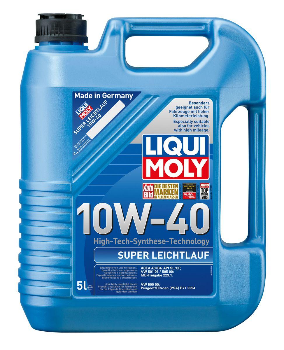"""Масло моторное Liqui Moly """"Super Leichtlauf"""", НС-синтетическое, 10W-40, 5 л"""